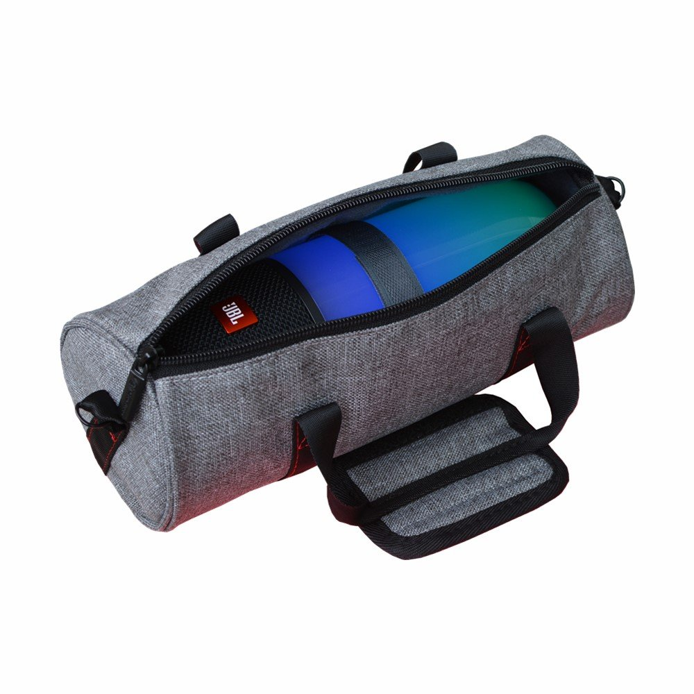 Soft Carrying Case Travel Bag for JBL Pulse 3 Pulse3 Wireless Portable Bluetooth Speaker With Belt (Gray) Walton