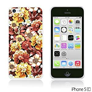 alTM - Flower Pattern Hardback Case forDiy For Touch 4 Case Cover Tripical Flower