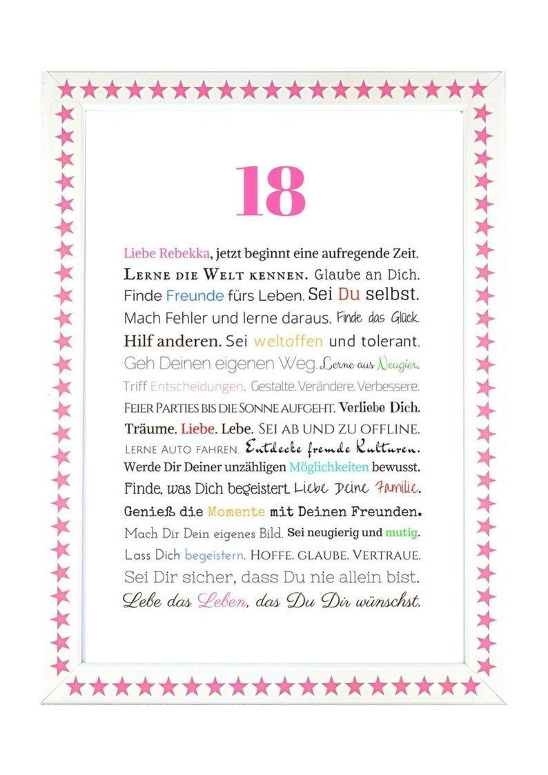 18. Geburtstag - Geschenkidee zur Volljährigkeit - Personalisiertes ...