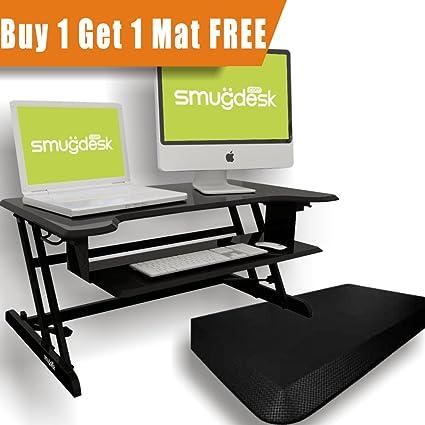Charmant Standing Desk, Stand Up Adjustable Desk Riser Converter For Desktop Laptop  Dual Monitor