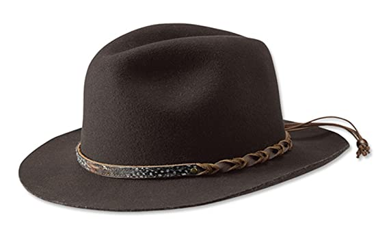 Orvis Women s Lone Peak Rancher Felt Hat Brown at Amazon Women s ... b5ac35a10f8