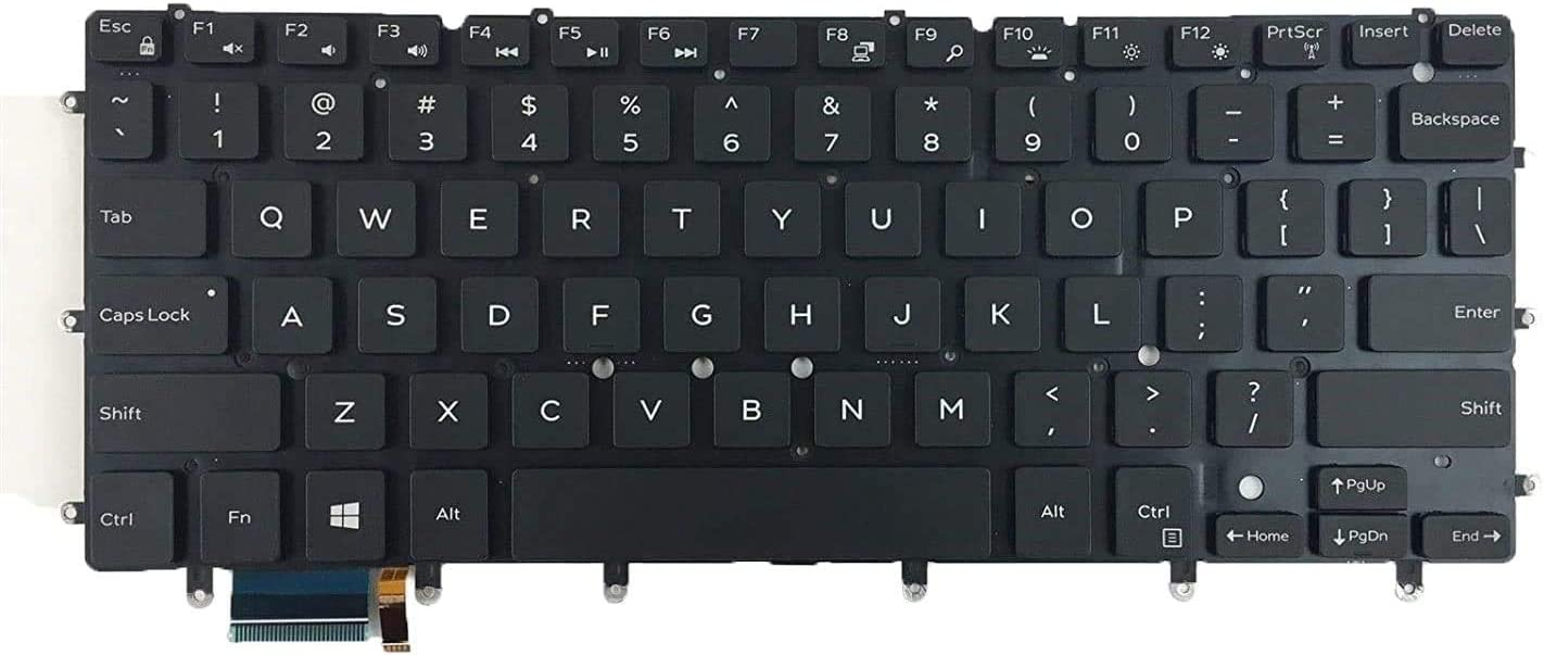 Replacement Keyboard compatible with Dell inspiron 13 7347 7348 7352 7353 7359, inspiron 15 7547 7548, XPS 13-9343 9350 9360 Laptop With Backlight