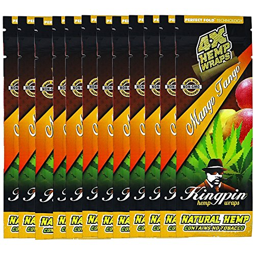 Kingpin Mango Tango Hemp Wraps - 12 Packs (48 Total Wraps) by Kingpin