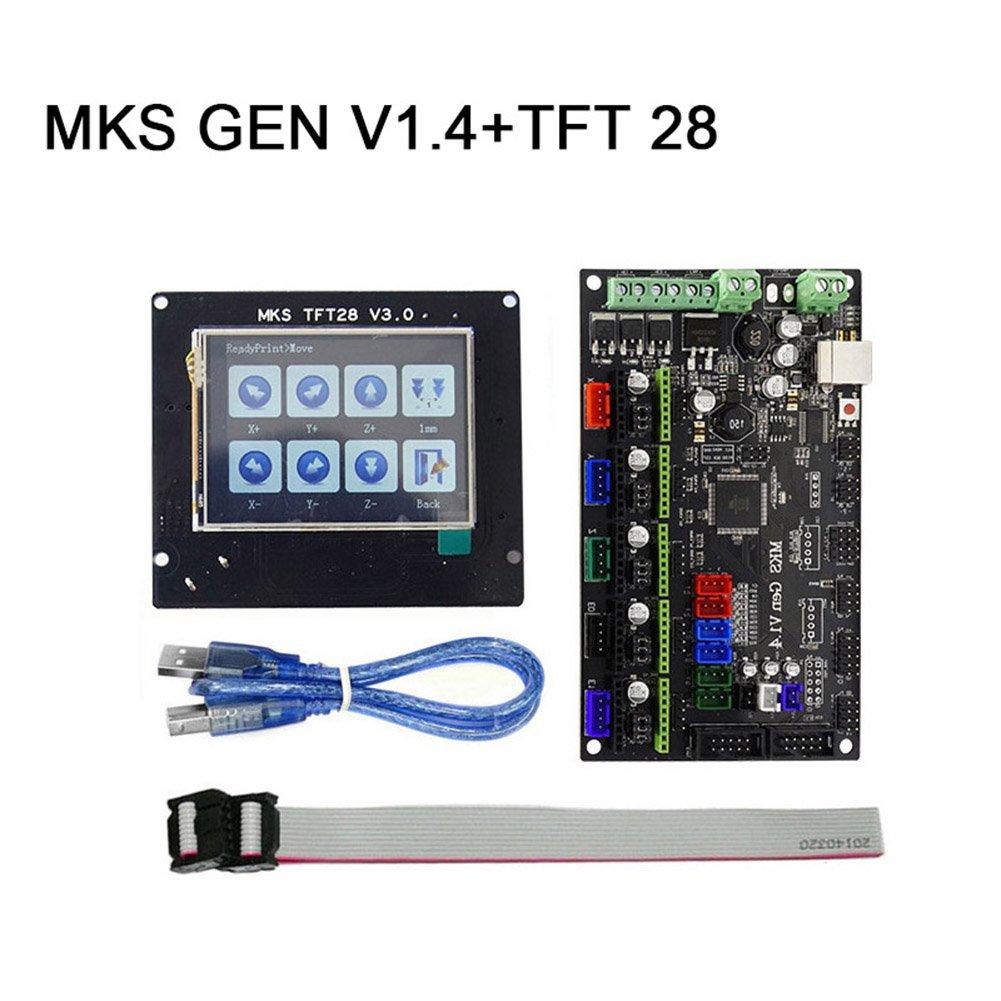 lzndeal mKS Gen v1.4Carte mère mKS contrôleur board avec écran tft28V3.0Set de câbles USB