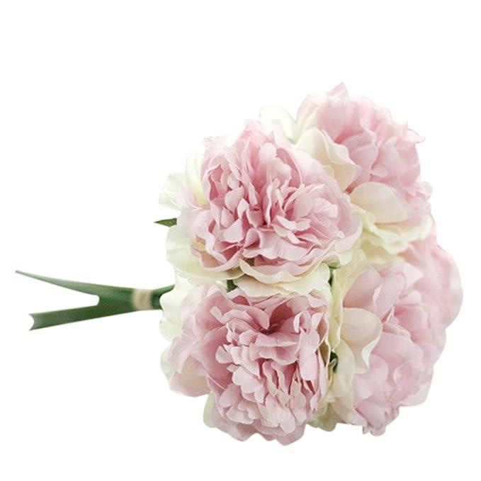 Strung Kunstseide Gefalschte Blumen Pfingstrose Blumen