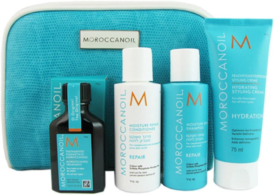 MOROCCANOIL Luxus – Neceser de viaje con 5 productos: Amazon.es: Belleza