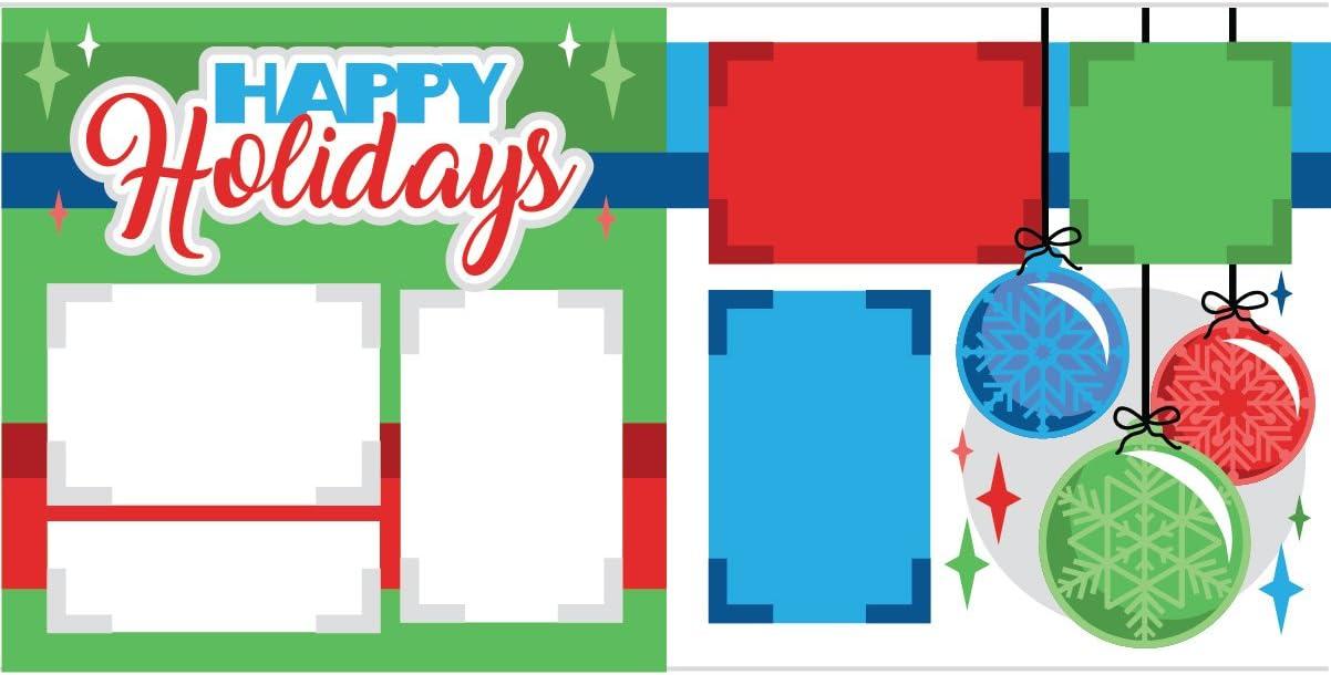 Happy Holidays Scrapbook Page Kit