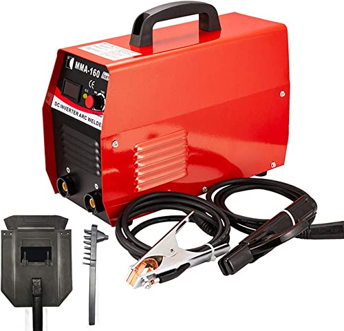 HOTSTORE Handheld Mini MMA Electric Welder Flux Core Wire Automatic Feed Welding Machine Inverter ARC Welding Machine Tool With Mask 20-160AMP 110V 220V