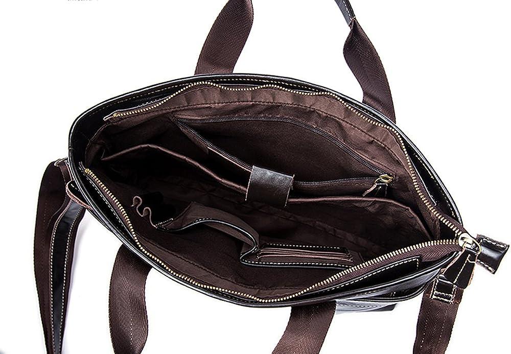 Rossie Viren Vintage Leather Briefcase Laptop Messenger Bag BookBag Daypack