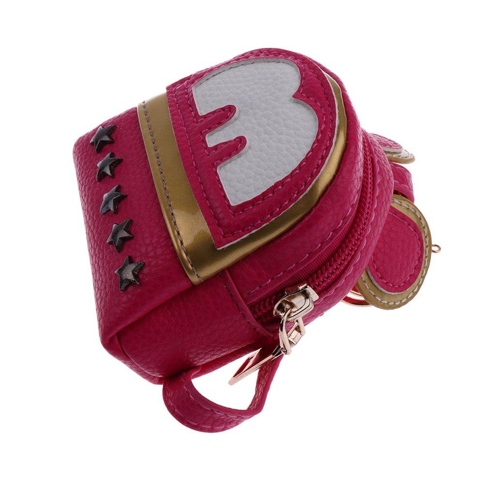 Homyl Fashion Dolls Backpack Schoolbag Travel Bag for 1/4 1/6 BJD 16'' Salon Doll - Black, as described