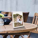 NIUBEE 5x7 Picture Frame, Acrylic Clear Photo Frame with Magnets for Tabletop Display, 2 Pack