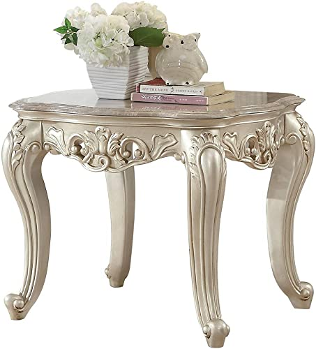 ACME Gorsedd End Table w/Marble Top