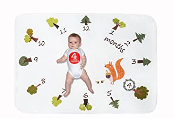 Amazon Monthly Milestone Memory Flannel Blanket Baby Age Photography Props Set For Newborn Boy Girl Growth Gifts