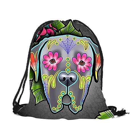 Amazon.com: Customized Drawstring Bags Women Men UniSkull Dog Tattoo 3D Printing Mochila Feminina sac a dos String Backpacks: Kitchen & Dining