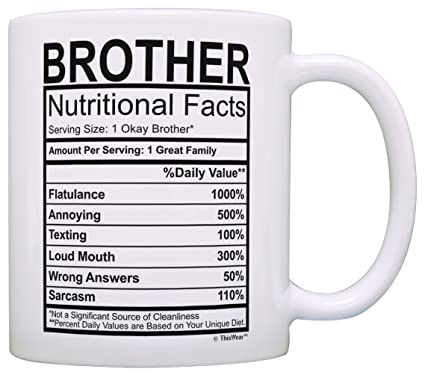 Amazon Graduation Gifts For Brother Nutritional Facts Label