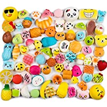 WATINC Random 10 pcs Squishies Cream Scented Slow Rising Kawaii Simulation Lovely Toy Medium Mini Soft Food squishies, Phone Straps (10P Donuts)