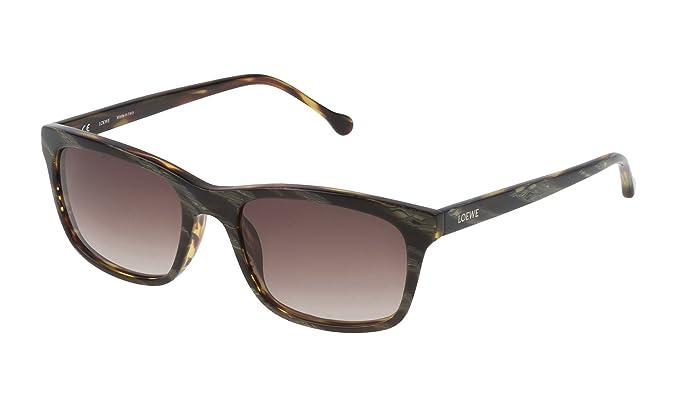 Loewe SLW941M55091K Gafas de sol, Brown Horn/Shiny Havana ...