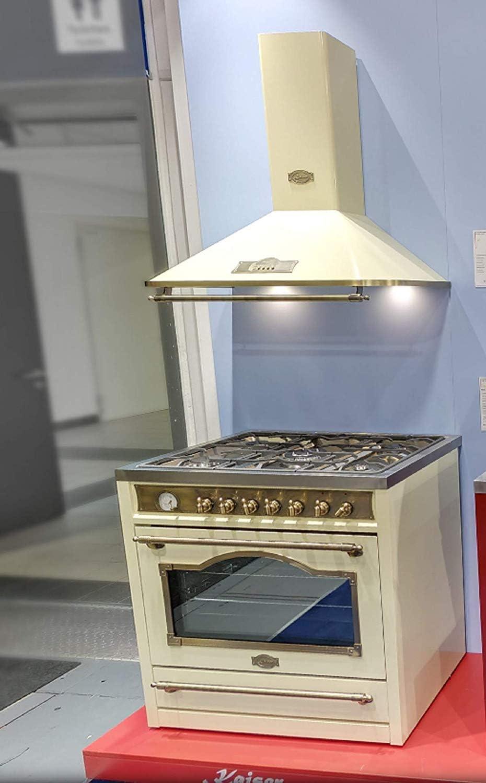 Kaiser Empire Set/Kaiser A 9315 ElfEm - Campana extractora de gas para cocina de gas Kaiser HGE 93555 ElfEm/horno eléctrico/8 funciones/autolimpieza/pincho giratorio/campana para chimenea/pared: Amazon.es: Grandes electrodomésticos