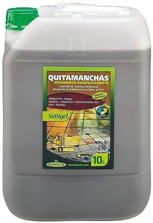 SANIGEL QUITAMANCHAS DECAPANTE DESENGRASANTE 10L MONESTIR: Amazon.es: Hogar