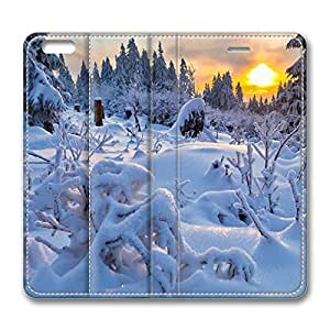 iPhone 6 Plus Case, Fashion Protective PU Leather Flip Case [Stand Feature] Cover Winter Sun 2 for New Apple iPhone 6(5.5 inch) Plus