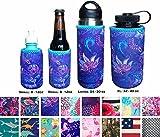 Koverz Neoprene 24-30 oz Water Bottle Insulator, Water Bottle Holder Cover Cooler Coolie for Stainless and Plastic Bottles - Violet Whimsy