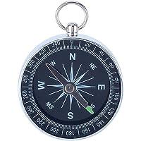 Kompas Draagbaar metalen zakkompas Nauwkeurig waterdicht zilveren kompas voor kamperen, wandelen buiten