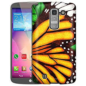 LG G Pro 2 Case, Slim Fit Snap On Cover by Trek Butterfly Wing - Orange Case