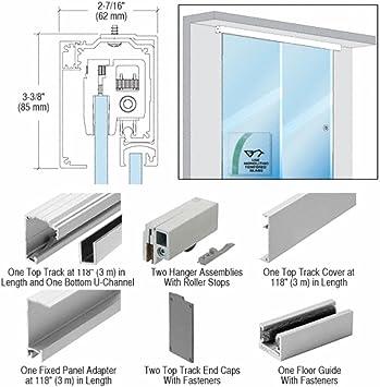 CRL sola puerta corredera con Panel fijo pared o techo para ...
