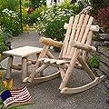 Lakeland Mills Classic Cedar Log Rocking Chair