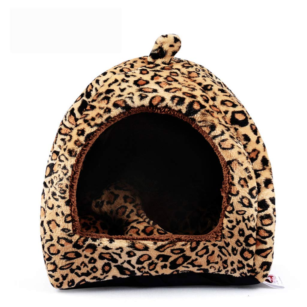 Leopard Print 454541cm Leopard Print 454541cm Pet nest, kennel yurt one nest two usage, puppy cat four seasons universal