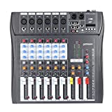 ammoon 60S-USB 6 Channels Mic Audio Mixer Mixing Console 3-band...