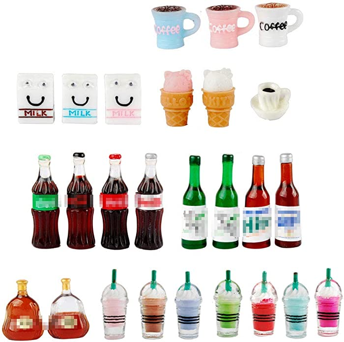 NWFashion Miniature Drinks Bottle (26pcs Mix)