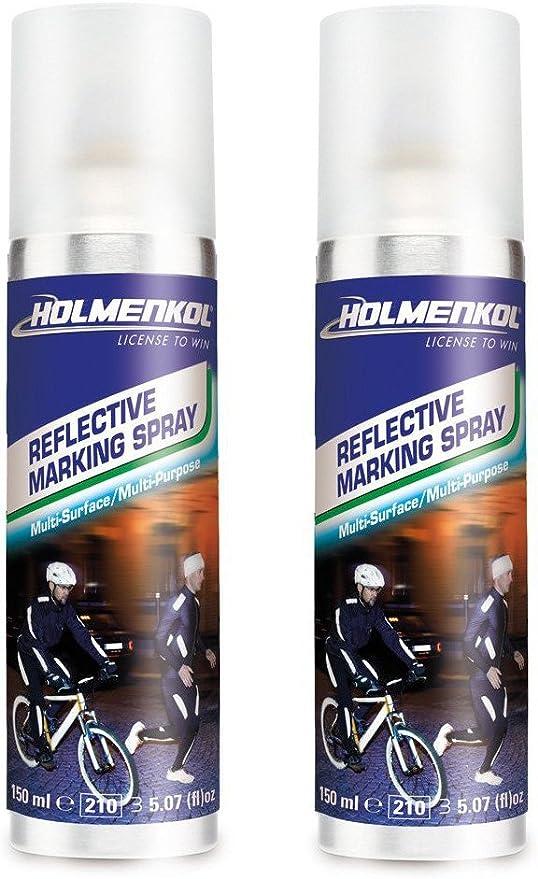 Holmenkol 1 2 3er Reflective Spray 150ml Sicherheit Sport Joggen Outdoor Fahrrad Textil 2x 125ml 250ml Sport Freizeit