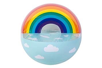 Sunnylife Pelota Hinchable de Playa con diseño de Arco Iris ...