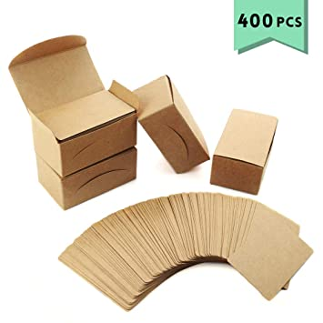 Amazon.com: Weoxpr 400 tarjetas de papel kraft en blanco ...