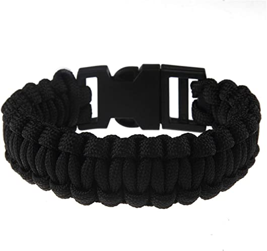 Camping Hiking Wrist Strap Bracelet Paracord Buckle Rope Wristband Professional