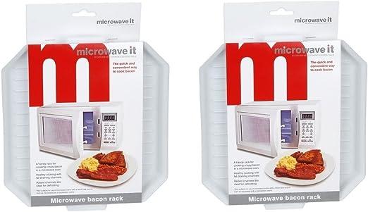 2 x Microwave It apta para microondas de plástico tocino para ...