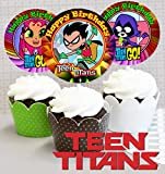 Crafting Mania LLC. 12 TEEN TITANS Birthday Inspired Party Picks, Cupcake Picks, Cupcake Toppers #1