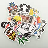 (200 pack) Random Music Film Vinyl Skateboard Guitar Travel Case Sticker Lot ...