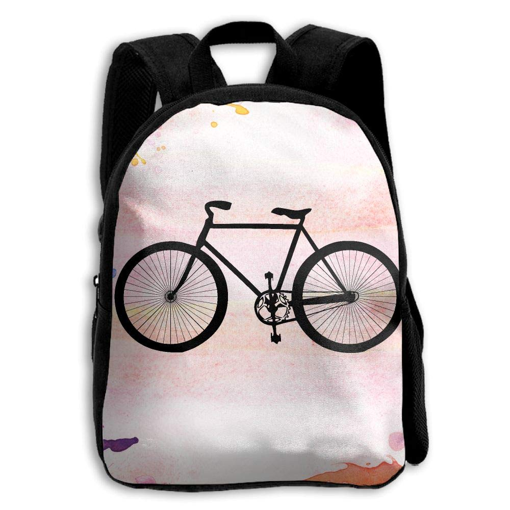 YEWEI 自転車 クリッパ 男女兼用 3Dプリント ワイドジッパー 学校 旅行 バッグ ショルダーバッグ 子供 バックパック   B07G78PVCM