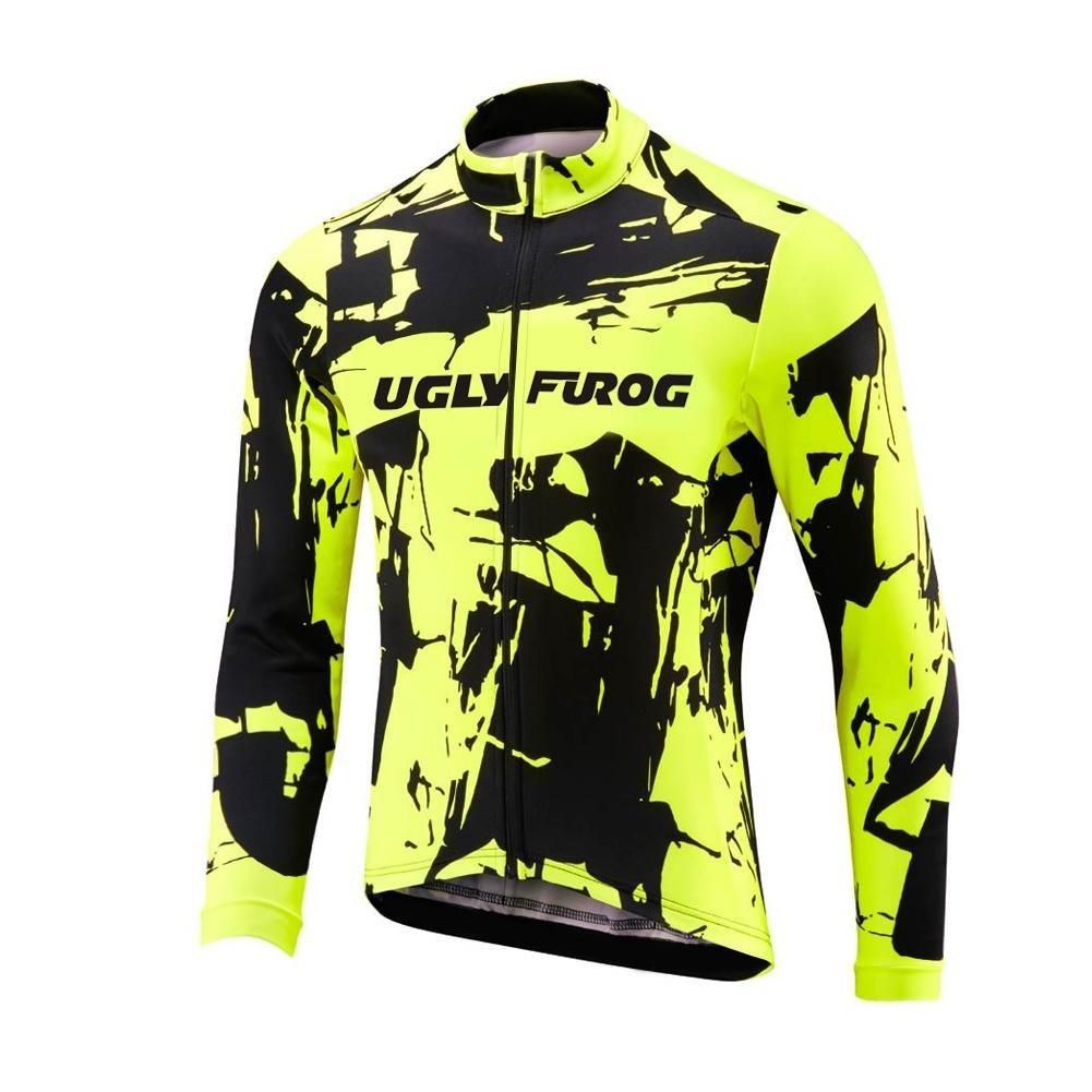 Uglyfrog 2016 Newest Winter Fleece Cycle Jersey Mens Outdoor Sports Cycling Long Sleeve Bike Mountain Bicycle Top Triathlon Wcx8