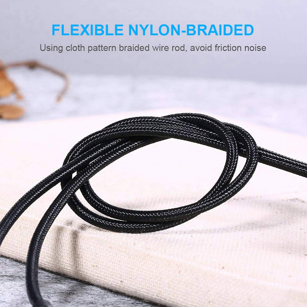 Premium Aux Cable for Car 3.3Ft Nylon Braided Support iOS 12 or Above 3.5mm Aux Cord to Car//Home Stereo//Speaker//Headphone RVOKOMS Audio Auxiliary Input Adapter Compatible iX//XS Max//XR//7//8//8 Plus
