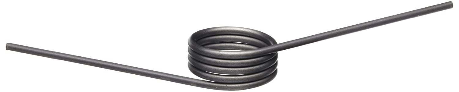 Music Wire Torsion Spring, Right Hand Wind Direction, 120° Deflection, 0.371' OD, 0.032' Wire Size, 1' Leg Length, 0.25' Mandrel Size, 0.213' Min. Axial Space (Pack of 10) 0.371 OD 0.032 Wire Size 1 Leg Length 0.25 Mandrel Size T032120250R