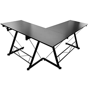 metal office desk pc computer table work corner gaming table home office desk amazoncom coaster shape home office computer