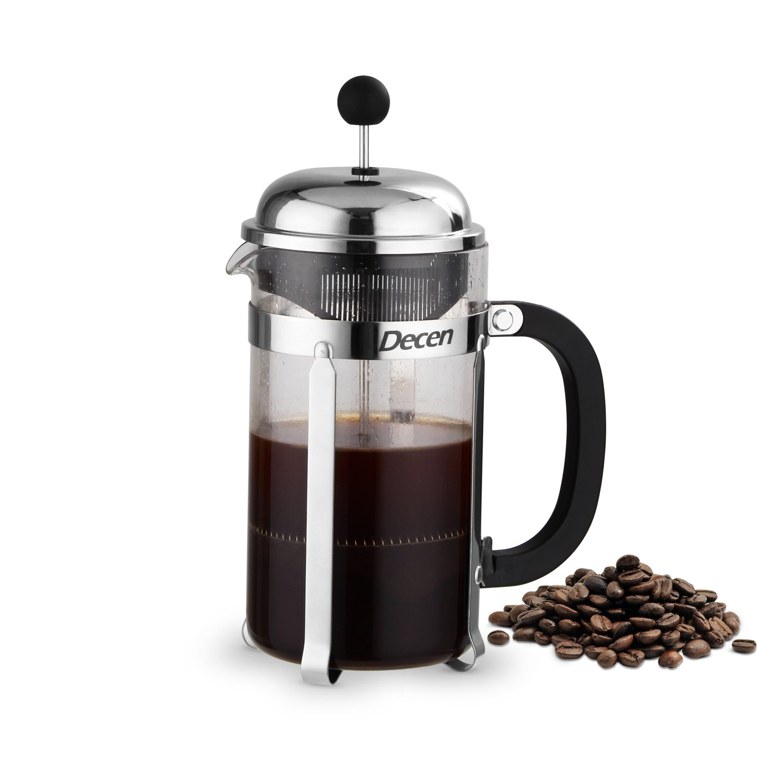 Decen Coffee Tea & Espresso Cafetières French Filter Coffee Press Plunger - 1.0L / 8 Cup