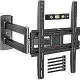 TV Muurbeugel - Full Motion TV Muurbeugel, Draaibaar, Kantelbaar, Uitschuifbaar - voor de meeste 26-55 inch Flat en Curved TV's - Houdt maximaal 27 kg , VESA 400x400mm - Inclusief HDMI kabel en Waterpas