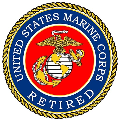1Pc Unrivaled Popular United States Marine Corps Retired Sticker Sign One-Side Printed Windows Police Size 12