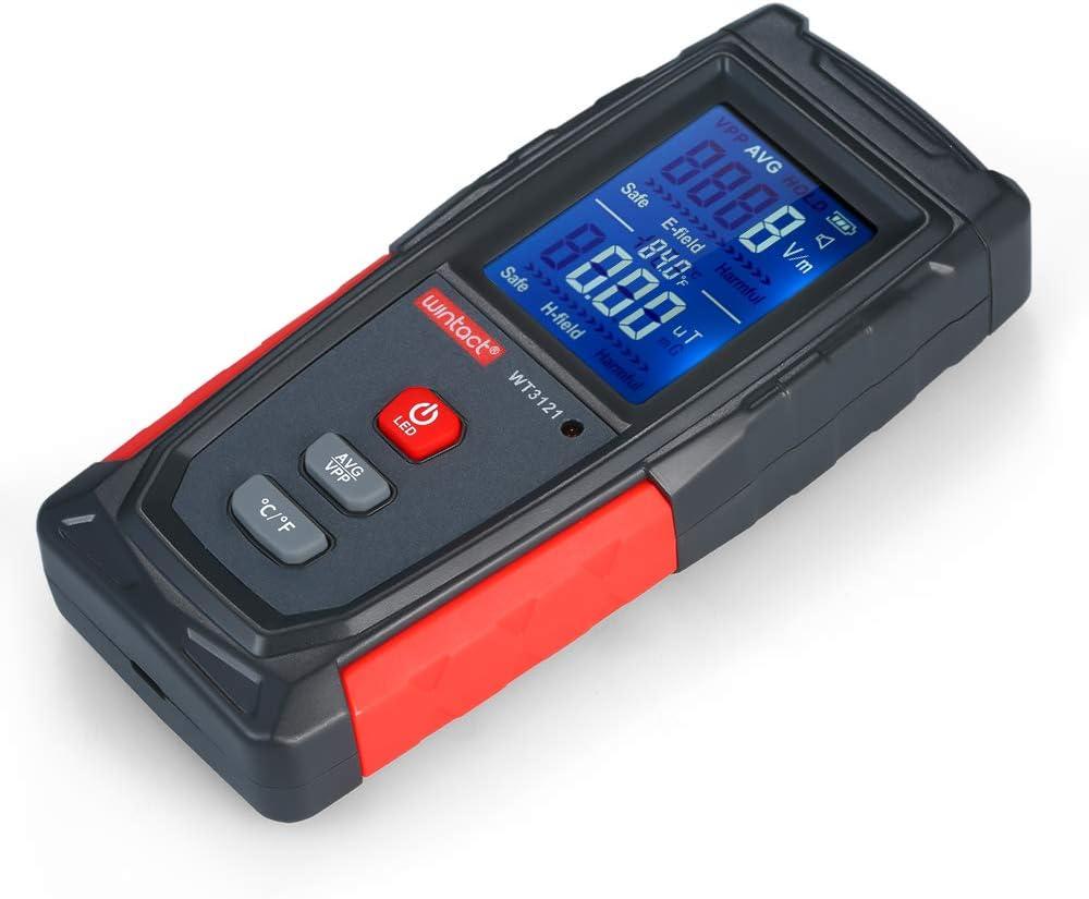 Fesjoy EMF testeur d/étecteur de rayonnement de champ de haute pr/écision mini num/érique testeur EMF /électromagn/étique LCD compteur de rayonnement Dosim/ètre testeur compteur