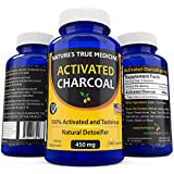 Best Activated Charcoal Capsules (450 Mg Supplement) -Detox Naturally and Safely. Reduce gas, bloating, and indigestion - 100% Tasteless, USA Made. Non-GMO pills, no gluten,100 Capsules