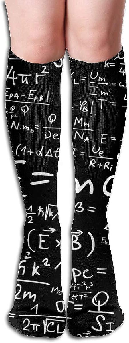 Physical Equation Womens Knee High Socks Winter Warm Boot Socks Tube Stockings